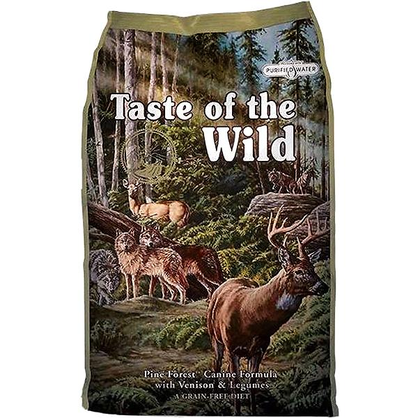 Taste of the Wild Pine Forest with Venison & Legumes Grain-Free Adult Dry Dog Food, 28-lb