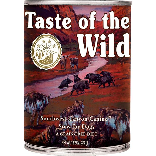 Taste of the Wild Southwest Canyon with Beef in Gravy Grain-Free Wet Canned Dog Food, 13.2-oz