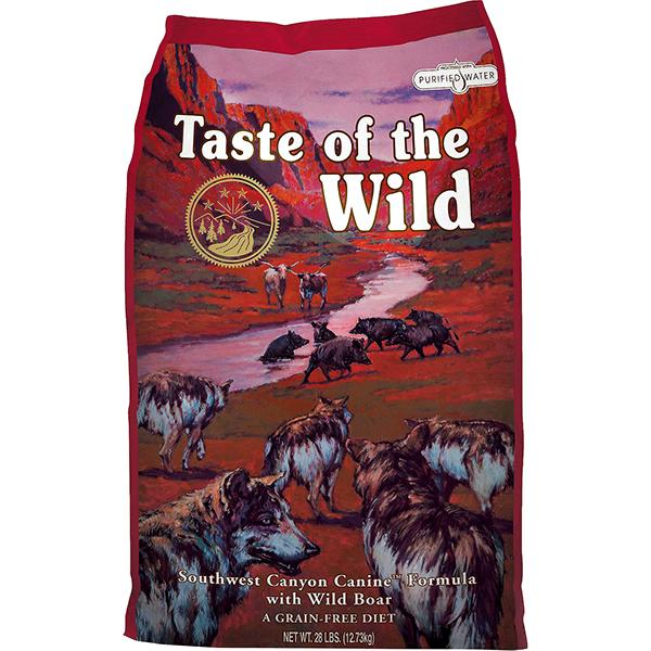 Taste of the Wild Southwest Canyon with Wild Boar Grain-Free Adult Dry Dog Food, 14-lb