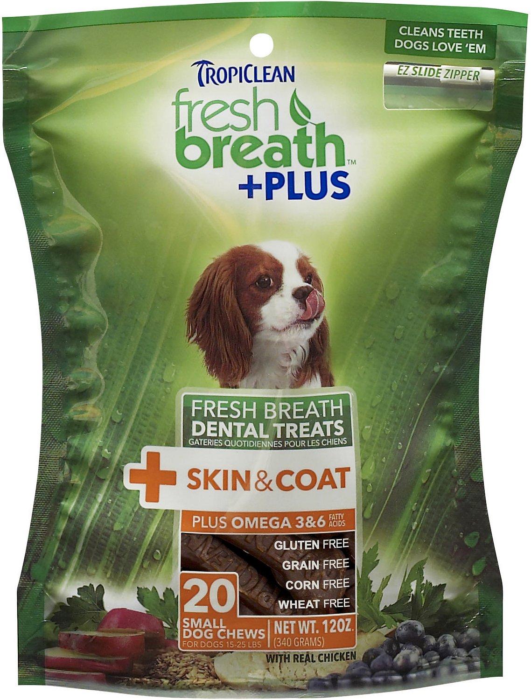 TropiClean Fresh Breath + Plus Skin & Coat Dental Dog Treats Image