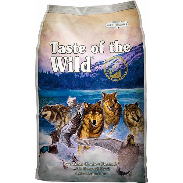 Taste of the Wild Wetlands with Roasted Fowl Grain-Free Adult Dry Dog Food, 14-lb