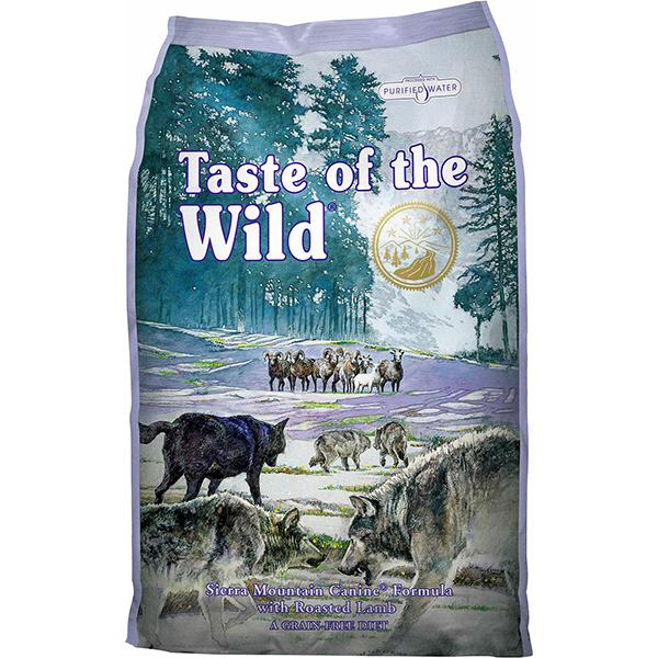 Taste of the Wild Sierra Mountain with Roasted Lamb Grain-Free Adult Dry Dog Food, 30-lb