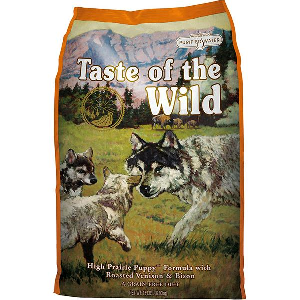 Taste of the Wild High Prairie with Roasted Bison & Venison Grain-Free Puppy Dry Dog Food, 30-lb