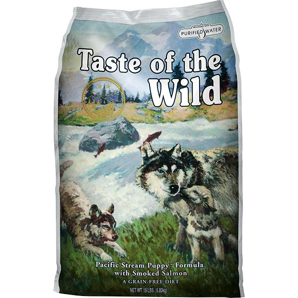 Taste of the Wild Pacific Stream with Smoked Salmon Grain-Free Puppy Dry Dog Food, 5-lb