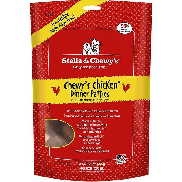 Stella & Chewy's Dinner Patties Chewy's Chicken Freeze-Dried Raw Dog Food, 25-oz