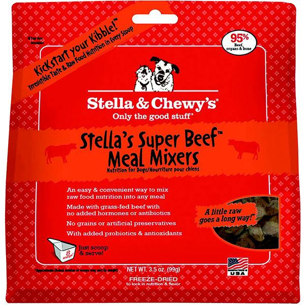 Stella & Chewy's Meal Mixers Stella's Super Beef Freeze-Dried Raw Dog Food Topper, 3.5-oz