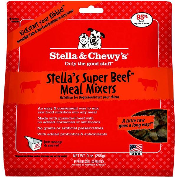 Stella & Chewy's Meal Mixers Stella's Super Beef Freeze-Dried Raw Dog Food Topper, 9-oz