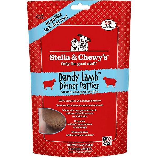 Stella & Chewy's Dinner Patties Dandy Lamb Freeze-Dried Raw Dog Food, 5.5-oz