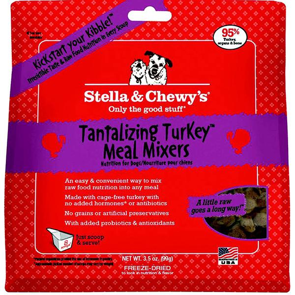 Stella & Chewy's Meal Mixers Tantalizing Turkey Freeze-Dried Raw Dog Food Topper, 3.5-oz