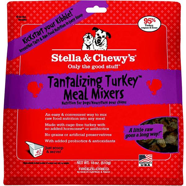Stella & Chewy's Meal Mixers Tantalizing Turkey Freeze-Dried Raw Dog Food Topper, 18-oz