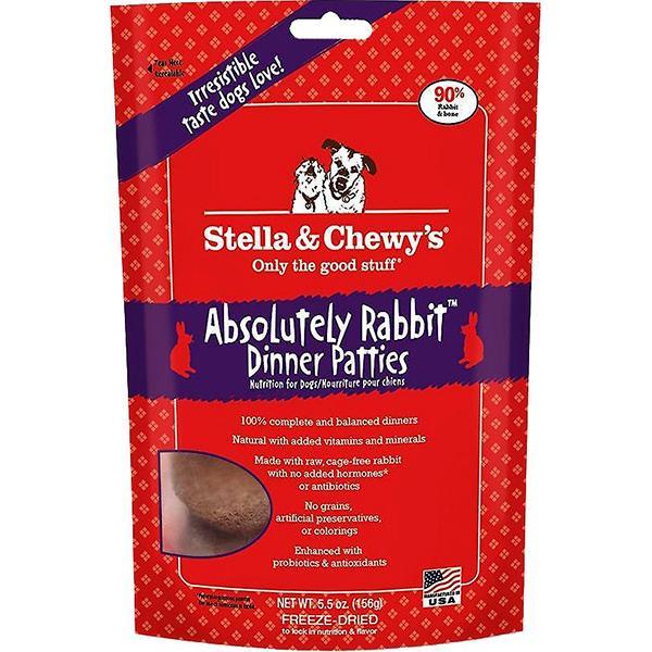 Stella & Chewy's Dinner Patties Absolutely Rabbit Freeze-Dried Raw Dog Food, 5.5-oz