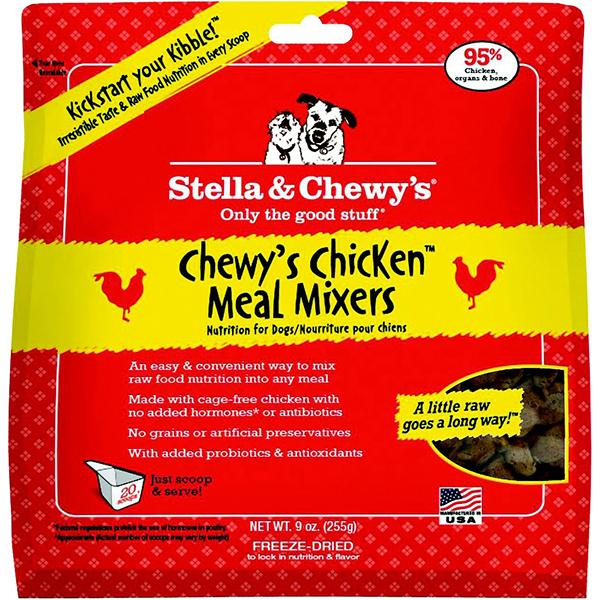 Stella & Chewy's Meal Mixers Chewy's Chicken Freeze-Dried Raw Dog Food Topper, 9-oz