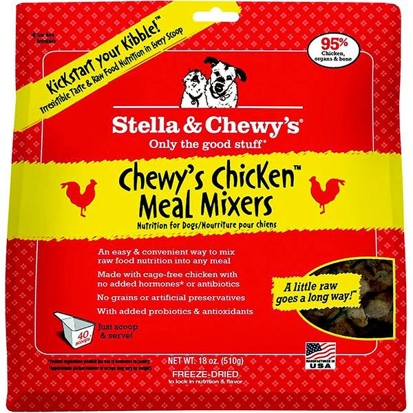 Stella & Chewy's Meal Mixers Chewy's Chicken Freeze-Dried Raw Dog Food Topper, 18-oz