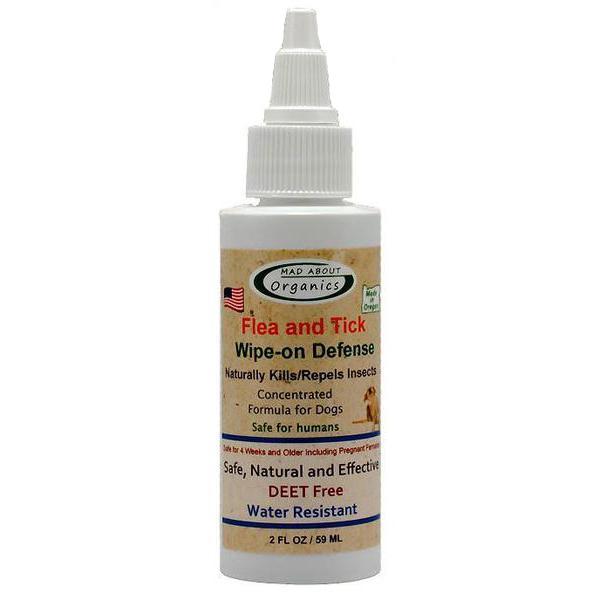 Organic Flea & Tick Wipe On Defense Dog Topical Liquid