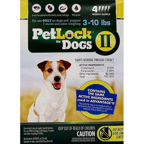 PetLock II Flea Treatment & Prevention Small 3-10# Dog Topical Liquid