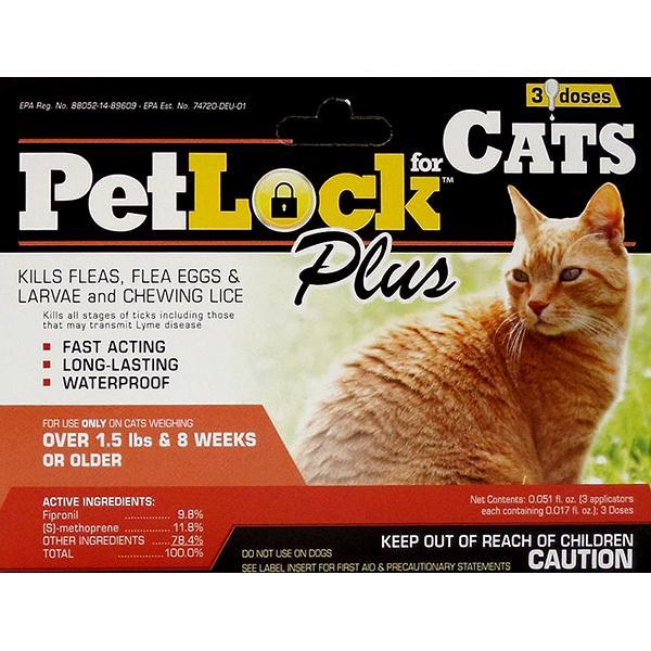 PetLock Plus Flea & Tick Treatment & Prevention Cat Topical Liquid