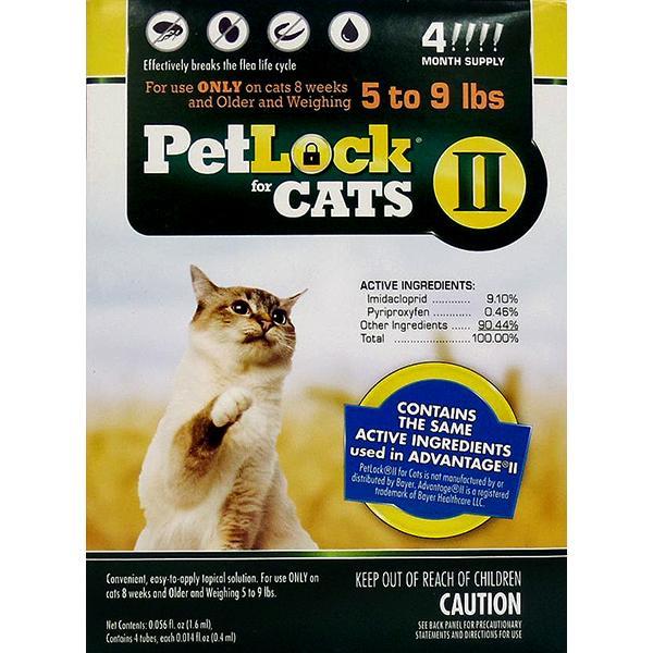 PetLock II Flea Treatment & Prevention Small 5-9# Cat Topical Liquid