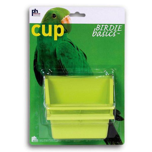 Prevue Pet Products Birdie Basics Plastic Bird Perch High Back Mountable Feeding Cup, 2oz