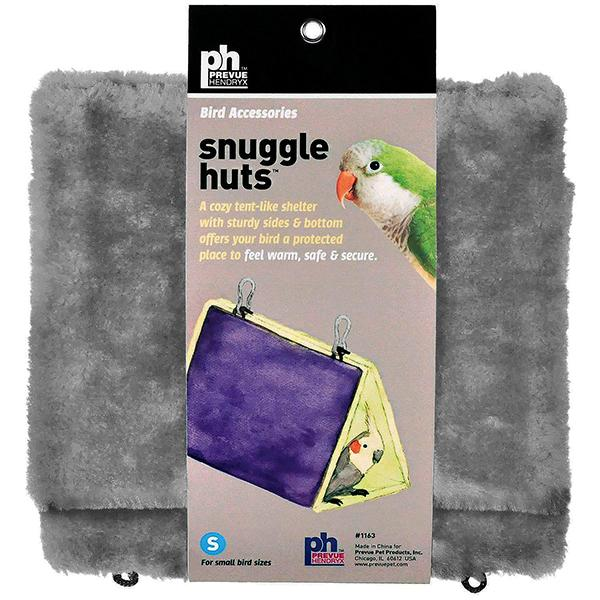 Prevue Pet Products Snuggle Hut Hanging Fabric & Fleece Bird Hideout, Small (7-in)