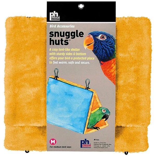 Prevue Pet Products Snuggle Hut Hanging Fabric & Fleece Bird Hideout, Medium (10-in)