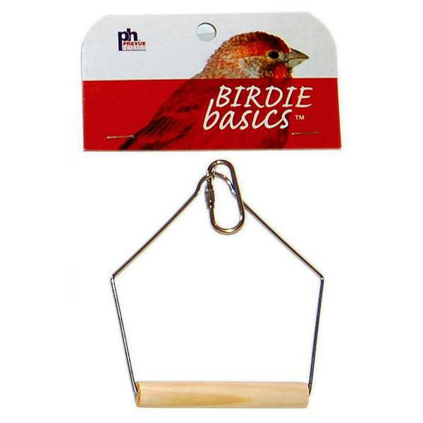 Prevue Pet Products Birdie Basics Hanging Wood Bird Swing, 3-in x 4-in