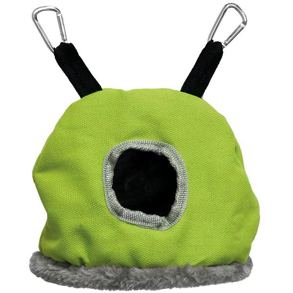 Prevue Pet Products Snuggle Sack Hanging Fabric & Fleece Bird Hideout, Small (6.5-in)