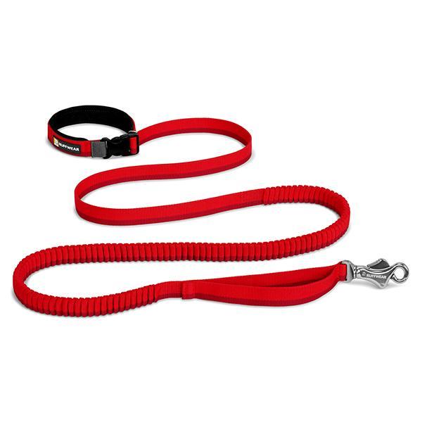 Ruffwear Roamer Stretchy Waist Worn Dog Leash, Red Currant, 5.5' - 7'