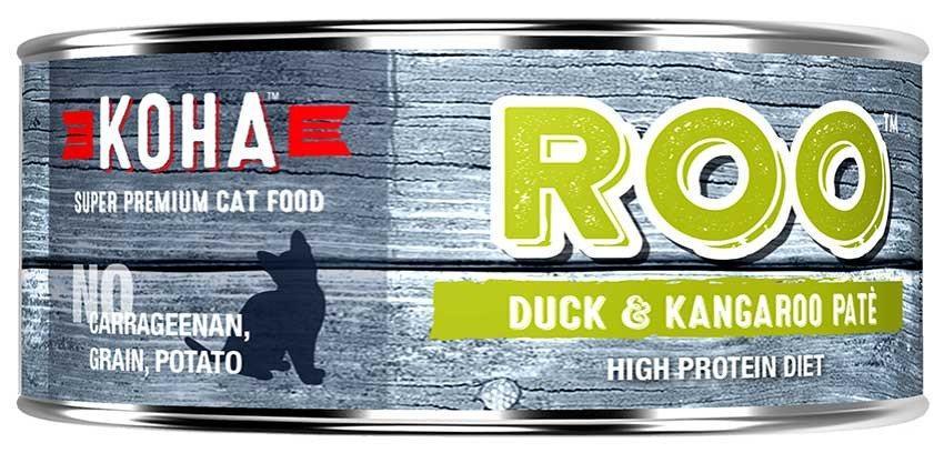 KOHA Canned Cat Food - ROO Recipe Duck & Kangaroo Pate - 5.5oz 24/cs