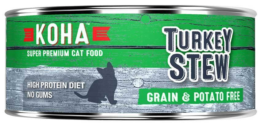 KOHA Canned Cat Food - Turkey Stew - 5.5oz