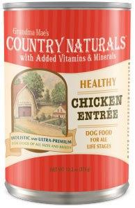 Grandma Mae's Country Naturals Healthy Entrees Chicken Wet Dog Food, 13.2-oz