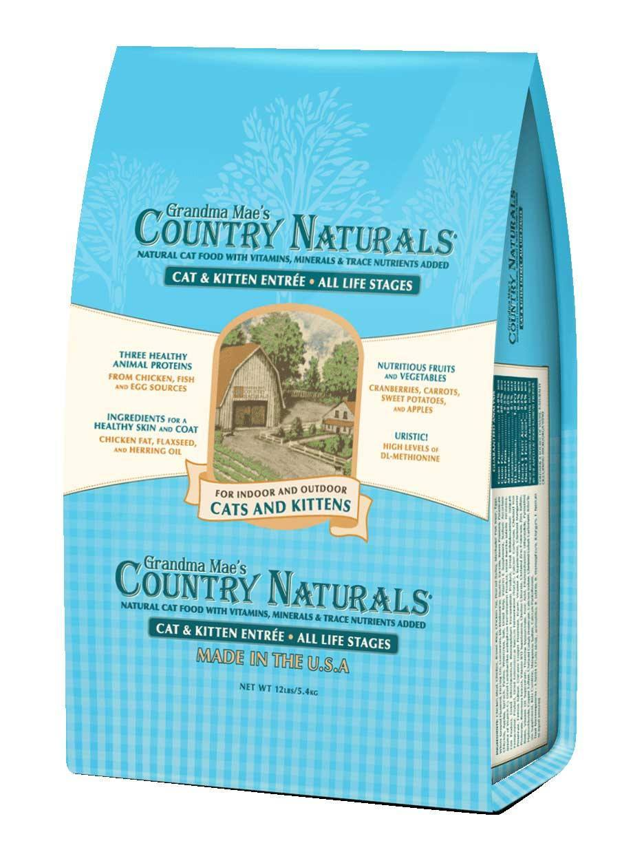 Grandma Mae's Country Naturals Cat & Kitten Entrée Dry Cat Food, 3-lb