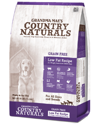 Grandma Mae's Country Naturals Grain-Free Low Fat Dry Dog Food, 25-lb