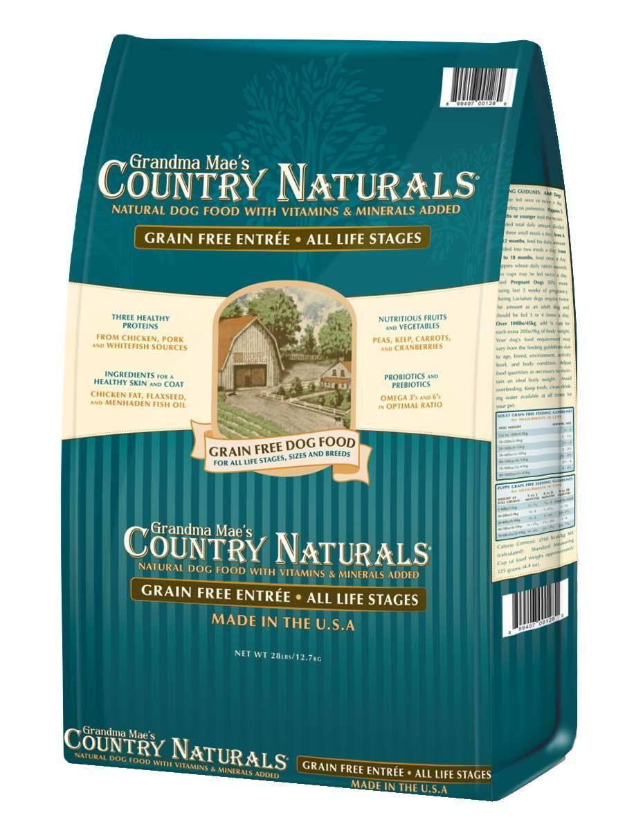 Grandma Mae's Country Naturals Grain-Free Chicken Entrée Dry Dog Food, 28-lb