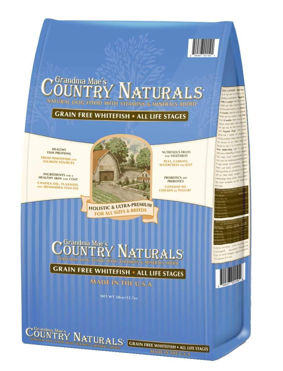 Grandma Mae's Country Naturals Grain-Free Whitefish Dry Dog Food, 28-lb