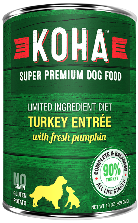 Koha Dog Food - Turkey Entrée - 13oz