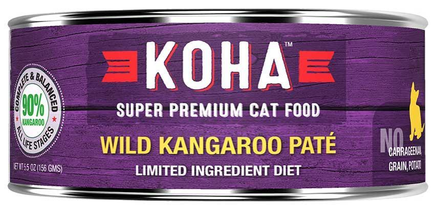 KOHA Canned Cat Food - 90% Kangaroo Pate - 5.5oz