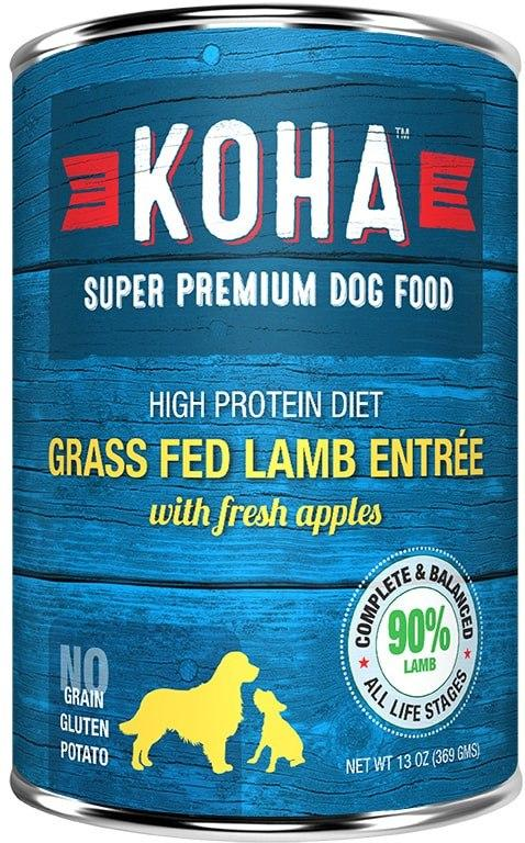 Koha Dog Food - Grass Fed Lamb Entrée with Fresh Apples - 13oz