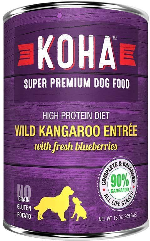 Koha Dog Food - Wild Kangaroo Entrée with Fresh Blueberries - 13oz
