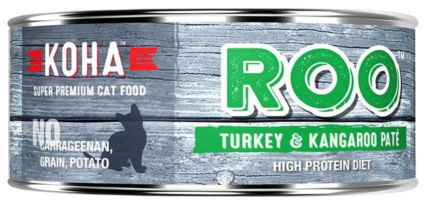 KOHA Canned Cat Food ROO Recipe Turkey & Kangaroo Pate 5.5oz