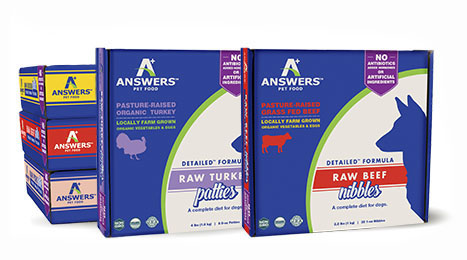 Answers Detailed 1-oz Nibbles Turkey Formula Raw Dog Food, 2.2-lbs.