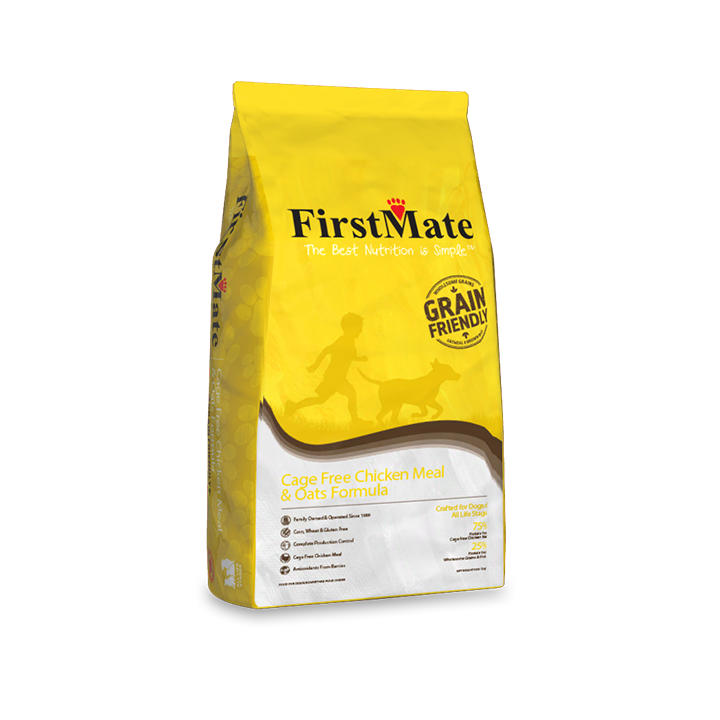 FirstMate Grain Friendly Cage-Free Chicken Meal & Oats Formula Dry Dog Food
