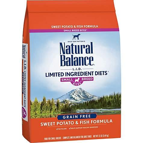 Natural Balance L.I.D. Limited Ingredient Diets Sweet Potato & Fish Small Breed Bites Dog Food, 4.5-lb