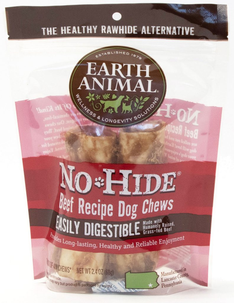 Earth Animal No-Hide Beef Chew Dog Treat, 4-in, 2-pk
