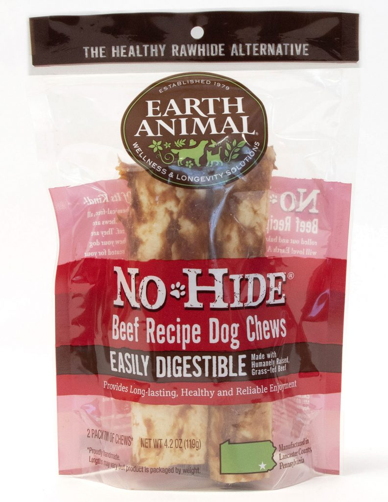 Earth Animal No-Hide Beef Chew Dog Treat, 7-in, 2-pk