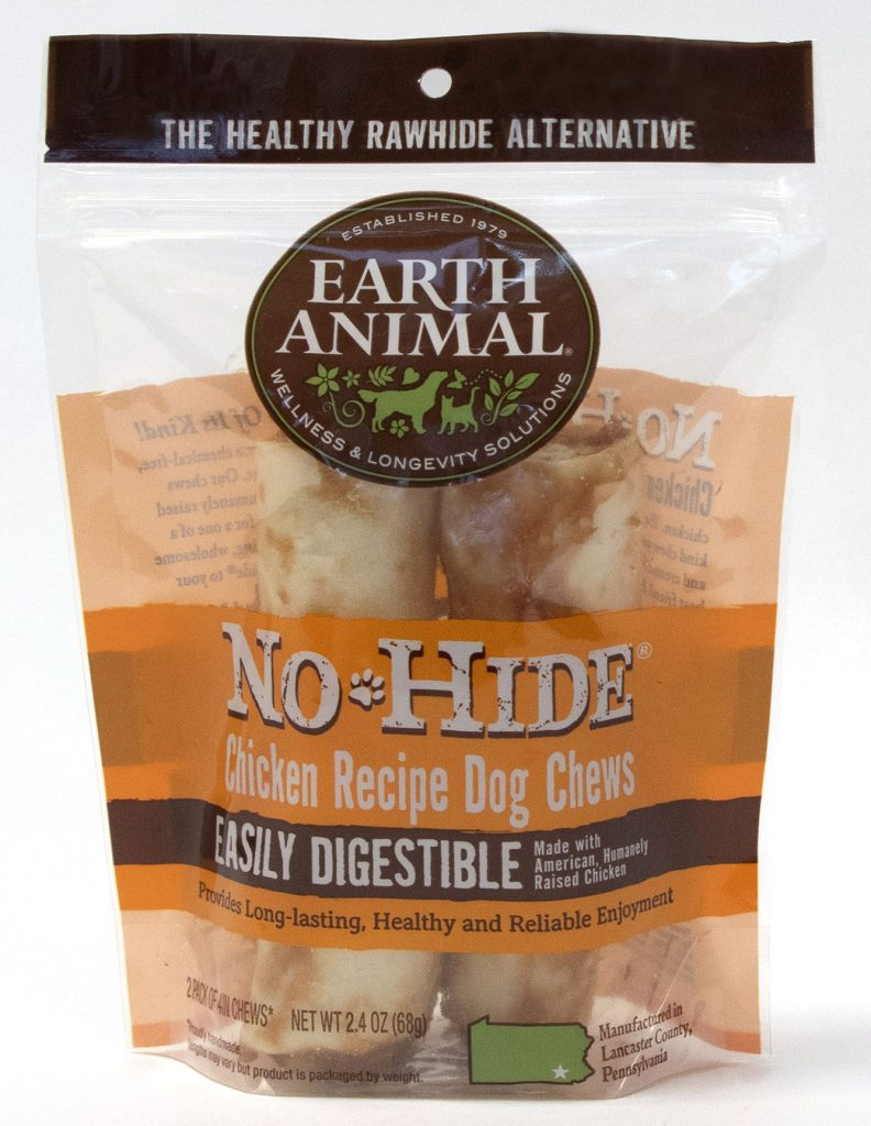 Earth Animal No-Hide Chicken Chew Dog Treat, 4-in, 2-pk