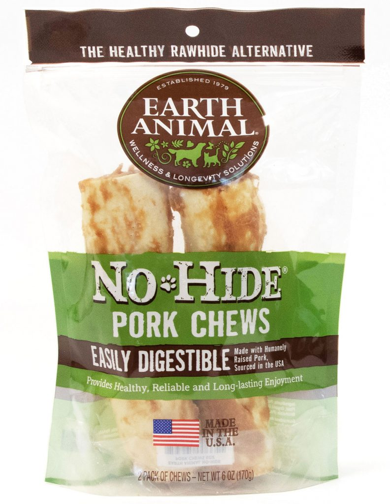 Earth Animal No-Hide Pork Chew Dog Treat, 7-in, 2-pk