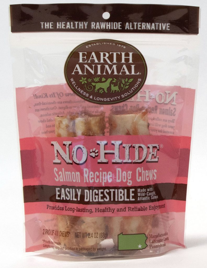 Earth Animal No-Hide Salmon Chew Dog Treat, 4-in, 2-pack