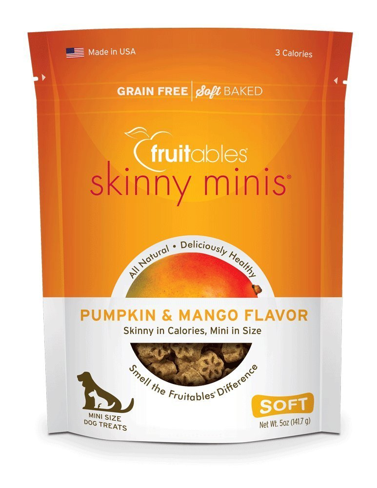 Fruitables Skinny Minis Pumpkin & Mango Soft & Chewy Dog Treats