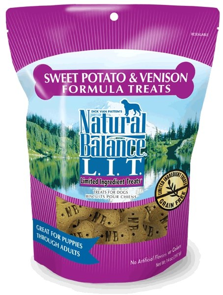 Natural Balance Limited Ingredient Diets Venison & Sweet Potato Dog Treats 14 Oz