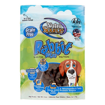 NutriSource Grain Free Bites Rabbit Dog Treats Size: 6-oz